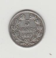 5 CENTAVOS ARGENT 1887 - Nicaragua