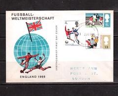 World Cup-1966,Cover, FDC, Football, Soccer, Fussball,calcio - 1966 – England