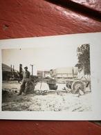 Photo Militaire D Un Camion, Véhicule Détruit, Artillerie 1917 - War, Military