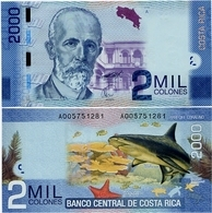 COSTA RICA       2000 Colones       P-275a        2.9.2009        UNC - Costa Rica