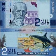 COSTA RICA       2000 Colones       P-275c       16.9.2015 (2018)        UNC - Costa Rica