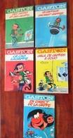 Gaston Lagaffe De FRANQUIN Lot De 5 Rééditions Dos Ronds Années 70' - Lots De Plusieurs BD