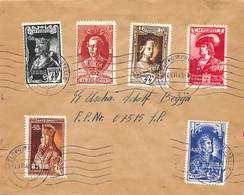 EMISION PRIVÉE.- 1943 BELGIQUE LEGION FLAMANDE. SERIE DES EMPEREUX- MICHEL IX/XIV LETTRE OBLITERATION FELDPOST - Cartas