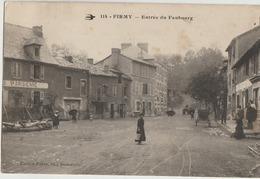 Firmy ( Faute S'ecrit Firmi )  12  L'Entrée Du Bourg-La Place Et La Route Tres Tres Animée-Restaurant Et Epicerie - Firmi