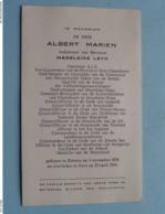 DP Albert MARIEN ( Madeleine LEYN ) Zelzate 3 Nov 1896 - Gent 25 April 1964 ( Zie Foto's ) Politiek ! - Overlijden