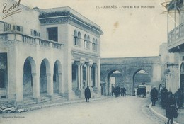 Meknés   Porte  Et Rue Dar Smen - Meknes