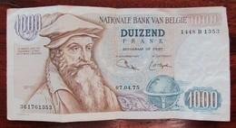 Billet Mercator 1000 F Belges 1975 BE - België