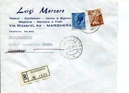 Italia (1964) - Raccomandata Da Marghera (VE) - 1946-.. République