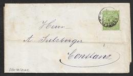 1874 DEUTSCHES REICH - WÜRTEMMBERG 1 KR. EF Mi. 36 - DRUCKSACHE REUTLINGEN N. KONSTANZ - Wurttemberg