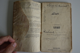 Livret Militaire Soldat Belge De Fleurus Régiment Lanciers 1852/56 (complet) - Documents