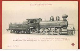 CHINE- Locomotives étrangères  Chine- Machine Mixte De La Cie Des Chemins De Fer De L'Est Chinois-Collection FLEURY - Chine