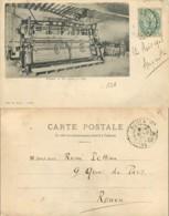D - [505191]B/TB//-France  - (59) Nord, Caudry, Un Métier à Tulle, Métiers - Caudry