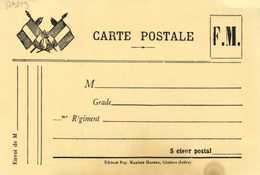 Militaria CARTE POSTALE  F.M. Vierge Edit Pap Maxime Hureau Chabris (Indre RV - Militaria