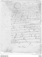 L4A004 France Document Manusrit De 1791 Cachet Rouge 8 Sols - Manuscritos