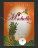 # PINEAPPLE MICHELLE Size 7 Fruit Tag Balise Etiqueta Anhanger Ananas Pina Costa Rica Colibrì Hummingbird Kolibri - Fruits & Vegetables