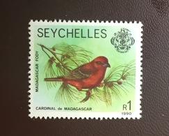 Seychelles 1990 Madagascar Fody Birds MNH - Birds