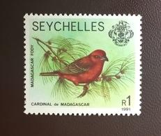 Seychelles 1991 Madagascar Fody Birds MNH - Birds