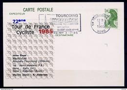 L4B062 France CP Tour De France 1985 5ème étape Neufcâtel Roubaix Tourcoing  OMEC Tourcoing 03 07 1985 - Cyclisme