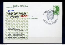 L4B063 France CP Tour De France 1985 6ème étape Roubaix Tourcoing Reims Obl GF Reims Philatélie 04 07 1985 - Cyclisme