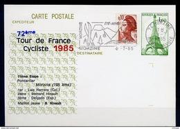 L4B069 France CP Tour De France 1985 11ème étape Pontarlier Morzine OMEC Morzine Morzine 09 07 1985 - Ciclismo