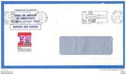 L4B126 Monaco  Secap Croix Rouge Monégasque / Lettre 22 07 1987 - Storia Postale
