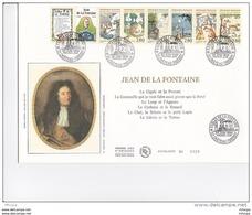 L4B206 FDC Carnet Jean De La Fontaine Château Thierry 24 06 1995 / Env. Luxe GF - Libretas
