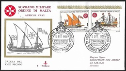1968 - SOVRANO MILITARE ORDINE DI MALTA - FDC - Unificato 31/32 - Sassone 31/32 + SOVRANO MILITARE ORDINE DI MALTA - Malte (Ordre De)