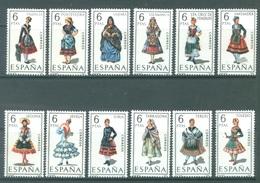 SPAIN - 1969-1970 - MNH/*** LUXE. - COSTUMES - Yv 1606-1609A 1625-1630 - Lot 20849 - 1931-Heute: 2. Rep. - ... Juan Carlos I