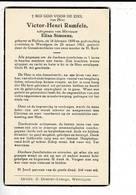 DP 9064 - VICTOR RUMFELS - HALLUIN 1899 + WEVELGEM 1962 - Imágenes Religiosas