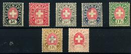 Suiza (Telégrafos) Nº 1/6, 8. Año 1868/81 - Telegraph