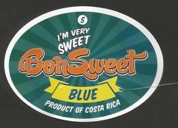 # PINEAPPLE BON SWEET CALIBRE 5 Fruit Tag Balise Etiqueta Anhanger Ananas Pina Costa Rica - Fruits & Vegetables