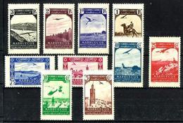 Marruecos Español Nº 186/95 Charnela. Cat.9,70€ - Spanish Morocco