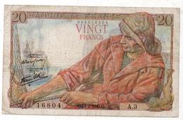 20 Francs 1942 Type 'Pêcheur' - 1871-1952 Antichi Franchi Circolanti Nel XX Secolo