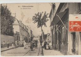 Villemonble  93   La Grande Rue  Tres Tres Animée Devant Grand-Bazar-en Face Café - Villemomble