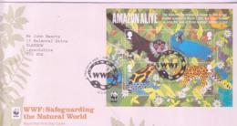 WWF - GRET BRITAIN - 2011 WWF SOUVENIR SHEET ON ILLUSTRATED FDC - FDC
