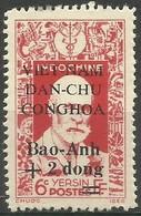 Vietnam - 1946 Dr Yersin Overprint & Surcharge +2d/6c Unused No Gum (as Issued)   Sc 1L49 - Vietnam