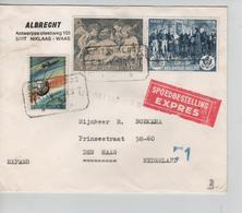 REF105/ TP 1380-1277-1286 S/L.Exprès C.T.T.Sint-Niklaas 21/5/1969 > Nederland - Belgique