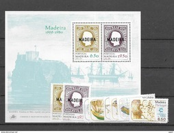 1980 MNH Madeira Year Complete, Postfris - Madère