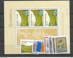 1983 MNH Madeira Year Complete, Postfris - Madère