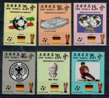 KOREA  DEL  NORD   1990      ITALIA '90    6 STAMPS    MNH** - Korea, North