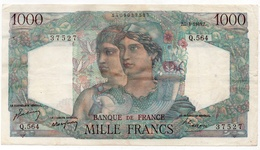 1000 Francs 1949 Type 'Minerve Et Hercule' - 1871-1952 Antichi Franchi Circolanti Nel XX Secolo