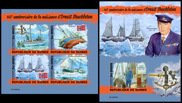 GUINEA 2019 - Ernest Shackleton. M/S + S/S. Official Issue [GU190425] - Guinee (1958-...)