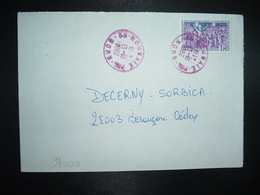 LETTRE TP ECLAIRAGE PUBLIC A L'ELECTRICITE GRENOBLE 1,80 OBL. ROUGE 13-10 1982 59 ROUBAIX PPAL NORD - Postmark Collection (Covers)