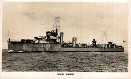 H.M.S. VANOC - Guerra