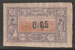 COTE Des SOMALIS - N°23 (*)   (1902) 0.05 Sur 75c - Nuevos