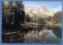 °°° Cartolina - Breuil Cervinia Lago Bleu E M. Cervino Viaggiata °°° - Aosta