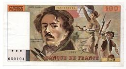 100 Francs 1984 Type 'Delacroix' - 1962-1997 ''Francs''