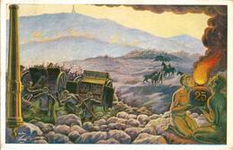 (CM).25° Artiglieria Da Campagna.Illustratore U. Ranzatto.F.to Piccolo.Viaggiata (188-a16) - Reggimenti