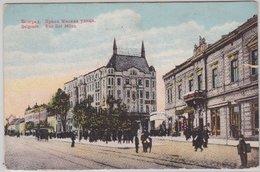Jugoslawien - Belgrad Rue Roi Milan Farb. Ansichtskarte Feldpostkarte 1915 - Servië