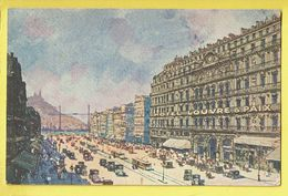 * Marseille (Dép 13 - Bouches Du Rhone - France) * (Schwob & Richard) Hotel Louvre & Paix, Tram, Vicinal, TOP - Marsiglia